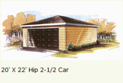 Garage Hip Roof Two And Half Car